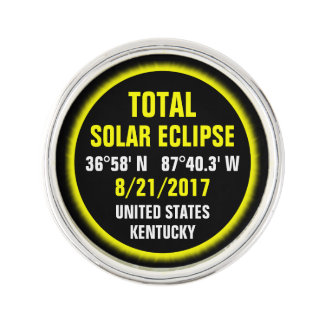 Total Solar Eclipse 8/21/2017 Lapel Pin