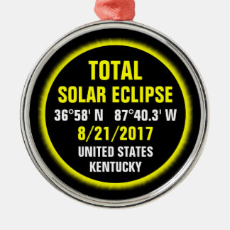 Total Solar Eclipse 8/21/2017 Metal Ornament