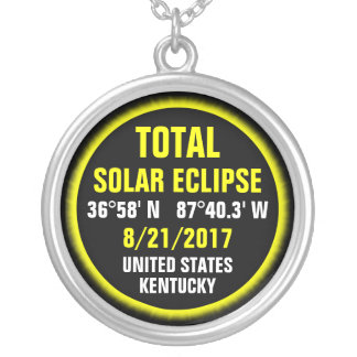 Total Solar Eclipse 8/21/2017 Silver Plated Necklace