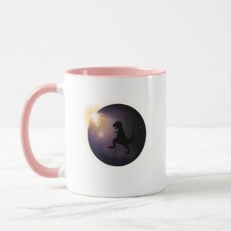 Total Solar Eclipse August2017 Funny dinosaur TRex Mug