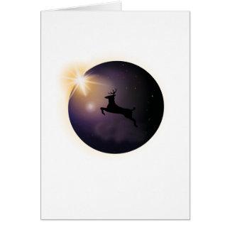 Total Solar Eclipse August 2017  Deer Card