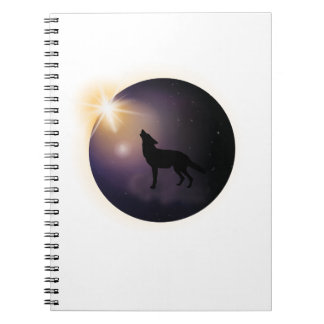 Total Solar Eclipse August 2017 Funny Dog Notebook