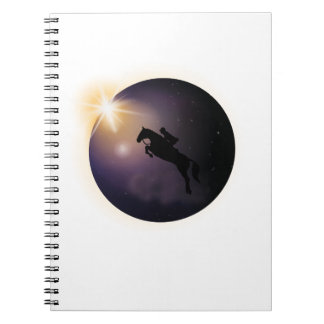 Total Solar Eclipse August 2017  Funny horse Notebook