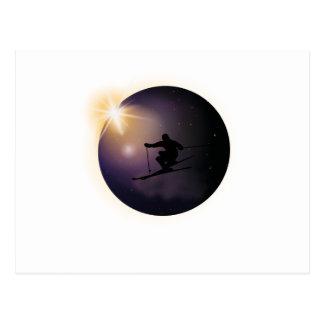 Total Solar Eclipse August 2017  ski Postcard