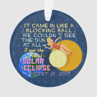 Total Solar Eclipse August 21 2017 American Funny Ornament