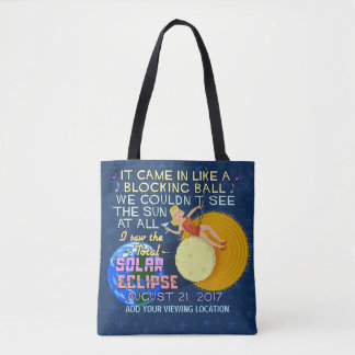 Total Solar Eclipse August 21 2017 American Funny Tote Bag