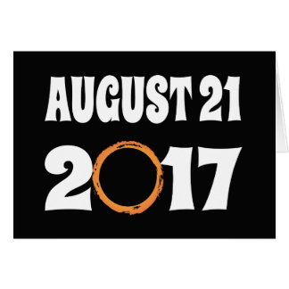 Total Solar Eclipse August 21 2017 Card