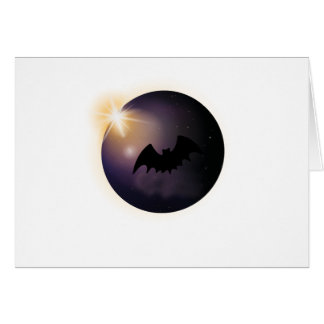 Total Solar Eclipse August 21 2017  Funny Bat Card