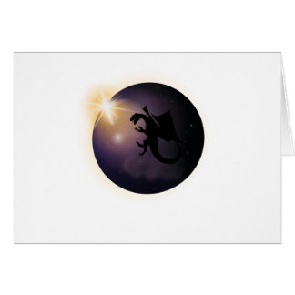 Total Solar Eclipse August 21 2017 Funny dragon Card