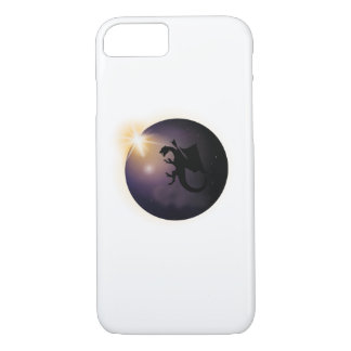 Total Solar Eclipse August 21 2017 Funny dragon iPhone 8/7 Case