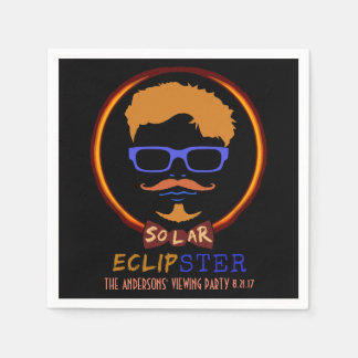 Total Solar Eclipse August 21 2017 Funny Hipster Disposable Napkin