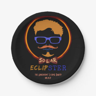 Total Solar Eclipse August 21 2017 Funny Hipster Paper Plate