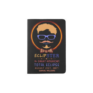 Total Solar Eclipse August 21 2017 Funny Hipster Passport Holder
