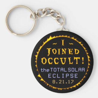 Total Solar Eclipse August 21 2017 Funny Occult Keychain