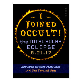 Total Solar Eclipse August 21 2017 Funny Occult Postcard