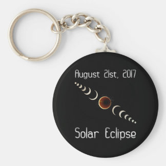 Total Solar Eclipse August 21 2017 Keychain