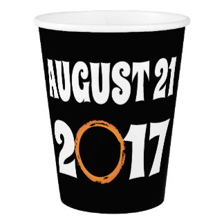 Total Solar Eclipse August 21 2017 Paper Cup
