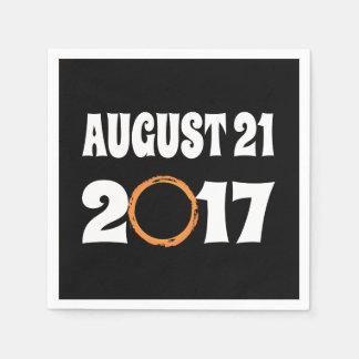 Total Solar Eclipse August 21 2017 Paper Napkins