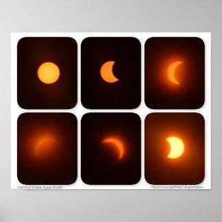 Total Solar Eclipse August 21 2017 Sun Photograph Poster