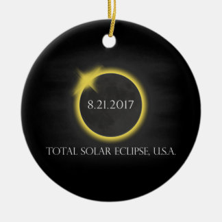 Total Solar Eclipse August 21 2017USA Souvenir Ceramic Ornament