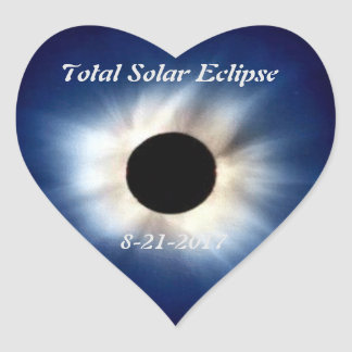 Total Solar Eclipse August 21st, 2017 Heart Stick Heart Sticker