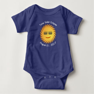 Total Solar Eclipse Baby Bodysuit - Royal Blue