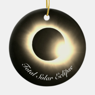 Total Solar Eclipse Ceramic Ornament