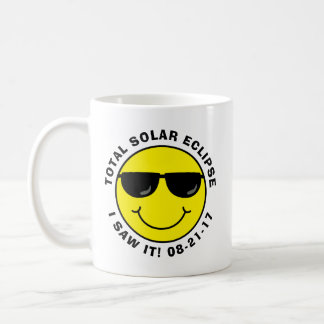 Total Solar Eclipse Cool Smiley Face Coffee Mug