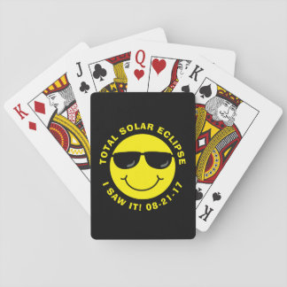 Total Solar Eclipse Cool Smiley Face Playing Cards