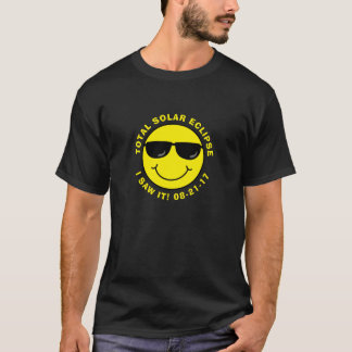 Total Solar Eclipse Cool Smiley Face T-Shirt