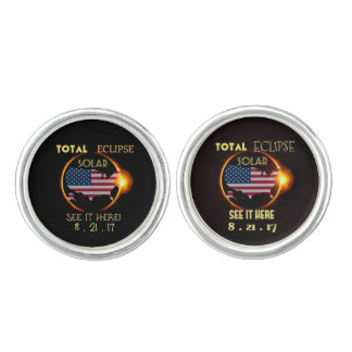 Total Solar Eclipse Cuff-Linkings Aug 21st. USA Cufflinks