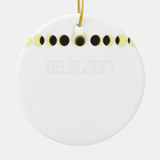 Total Solar Eclipse Cycle Ceramic Ornament
