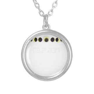 Total Solar Eclipse Cycle Silver Plated Necklace