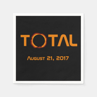 Total Solar Eclipse Event Paper Napkins