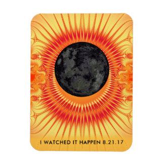 Total Solar Eclipse Fractal Art 3 x 4 Magnet