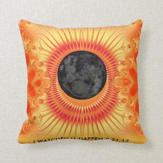 Total Solar Eclipse Fractal Art Throw Pillow
