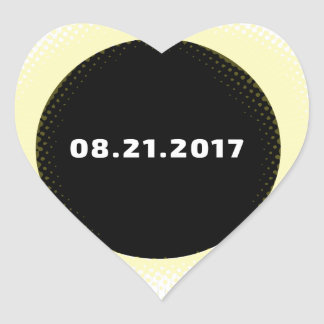 Total Solar Eclipse Heart Sticker