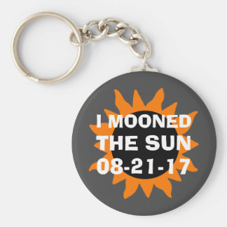Total Solar Eclipse I Mooned the Sun Funny Keychain