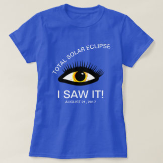 Total Solar Eclipse I Saw It! Funny customizable T-Shirt