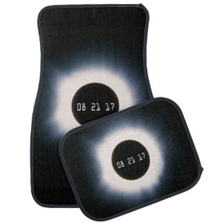 Total Solar Eclipse in Black and White Car Mat