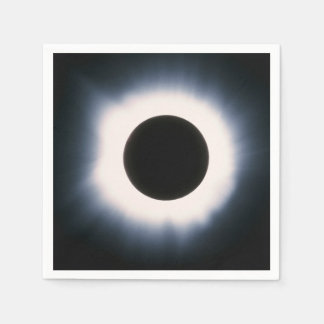 Total Solar Eclipse in Black and White Napkin
