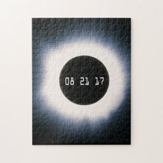 Total Solar Eclipse in Black and White Puzzles