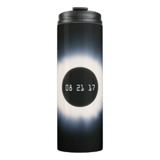 Total Solar Eclipse in Black and White Thermal Tumbler