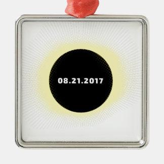 Total Solar Eclipse Metal Ornament