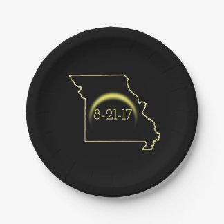 Total Solar Eclipse Missouri 2017 Paper Plate