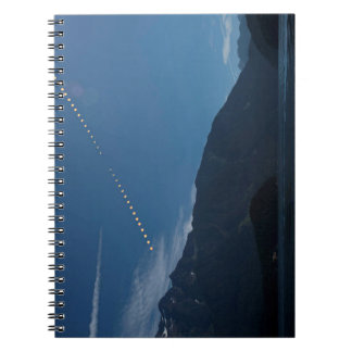 Total Solar Eclipse Mountain Time Lapse Spiral Notebook