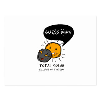 Total Solar Eclipse of the Sun  Guess Who? Kids Postcard