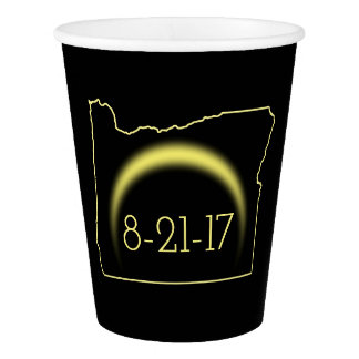 Total Solar Eclipse Oregon 2017 Paper Cup