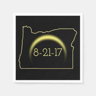 Total Solar Eclipse Oregon 2017 Paper Napkins