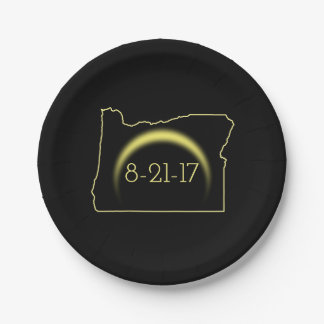 Total Solar Eclipse Oregon 2017 Paper Plate